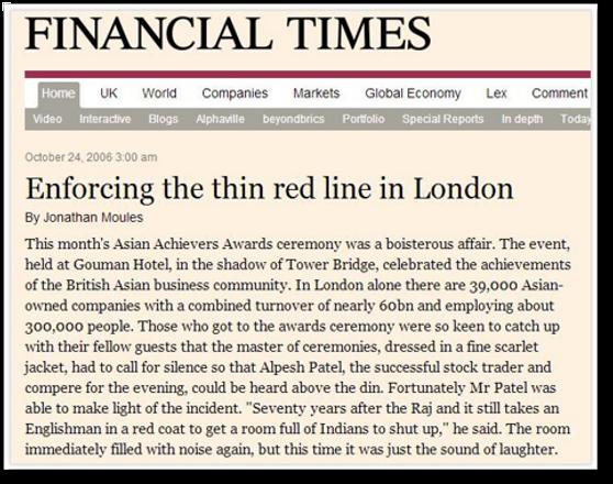 Alpesh Patel OBE speaker Financial Times