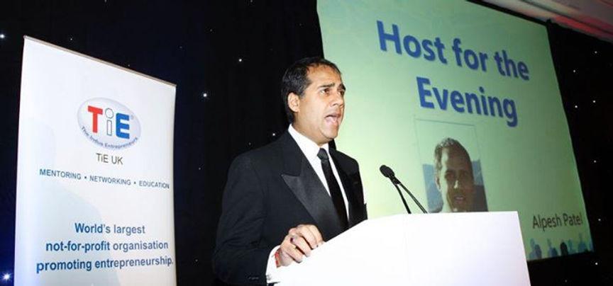 Alpesh Patel speaking at entrepreneurship event