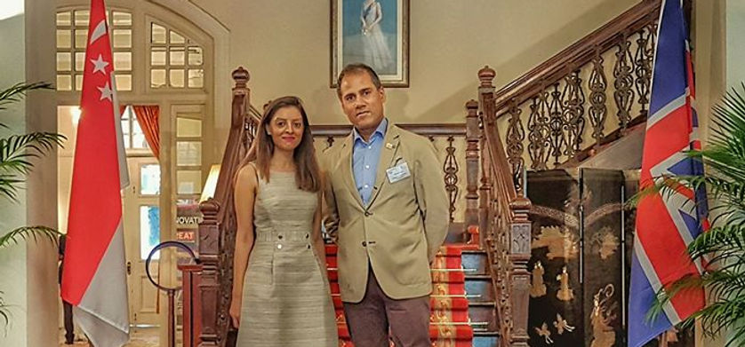 Alpesh Patel and Wife working together for Department for International Trade as Dealmaker