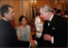 Alpesh Patel with Prince Charles