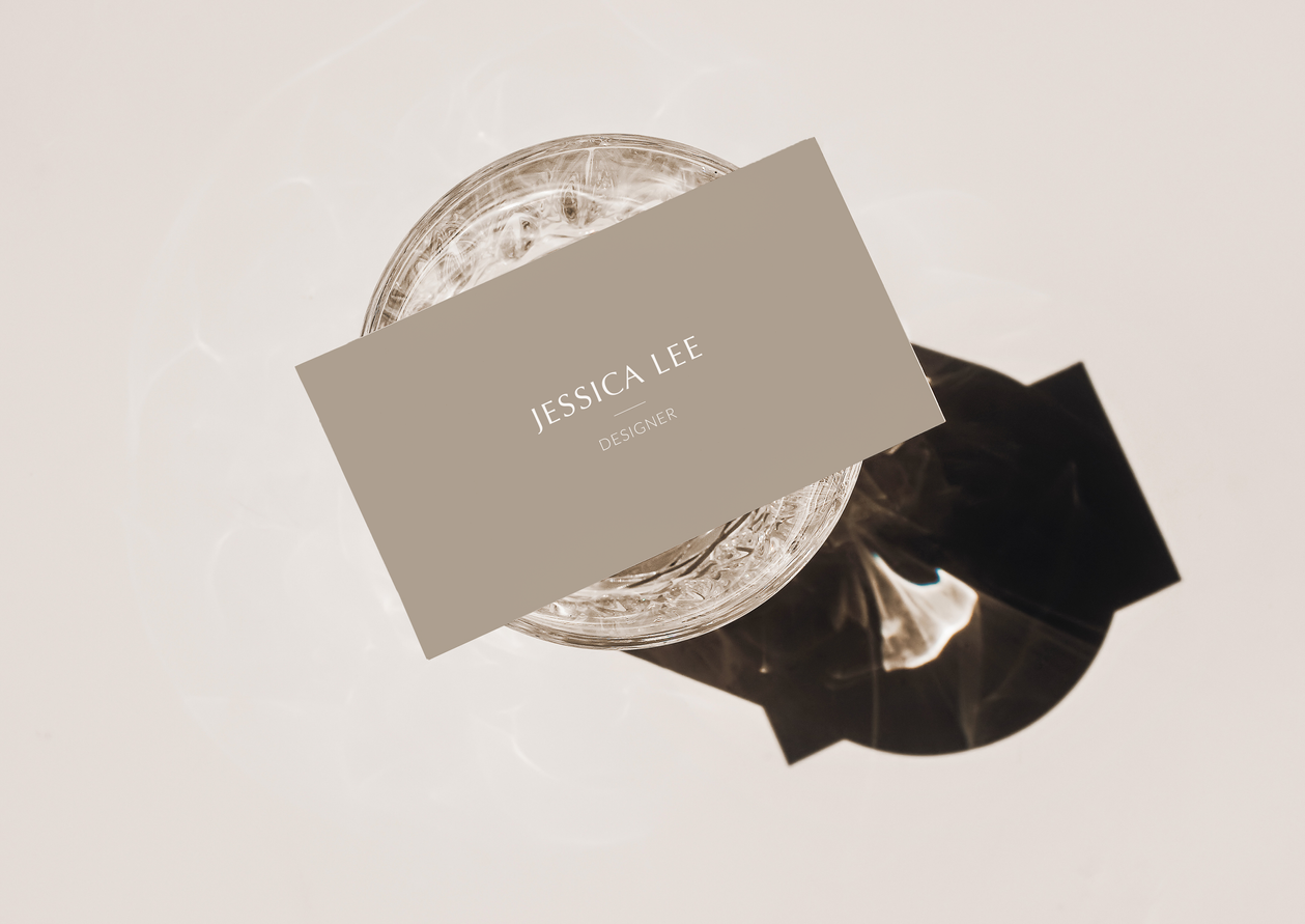 Business Card Details for Designs by Jessica Lee