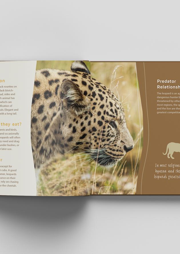 Book Design spread for Kgalagadi Transfrontier Park