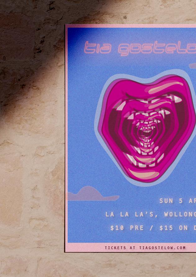 Tour Poster Design for Tia Gostelow