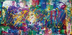 toile_Vie en couleur!36x12_julielafaille