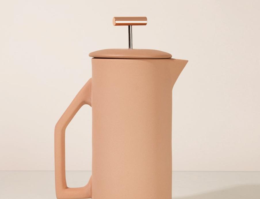 ceramic french press - sand