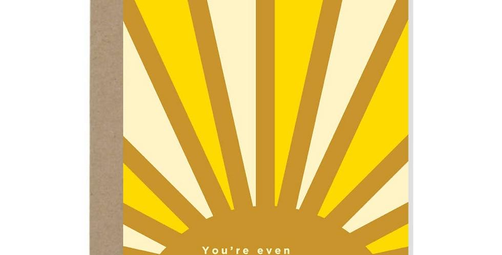 hotter than the sun card