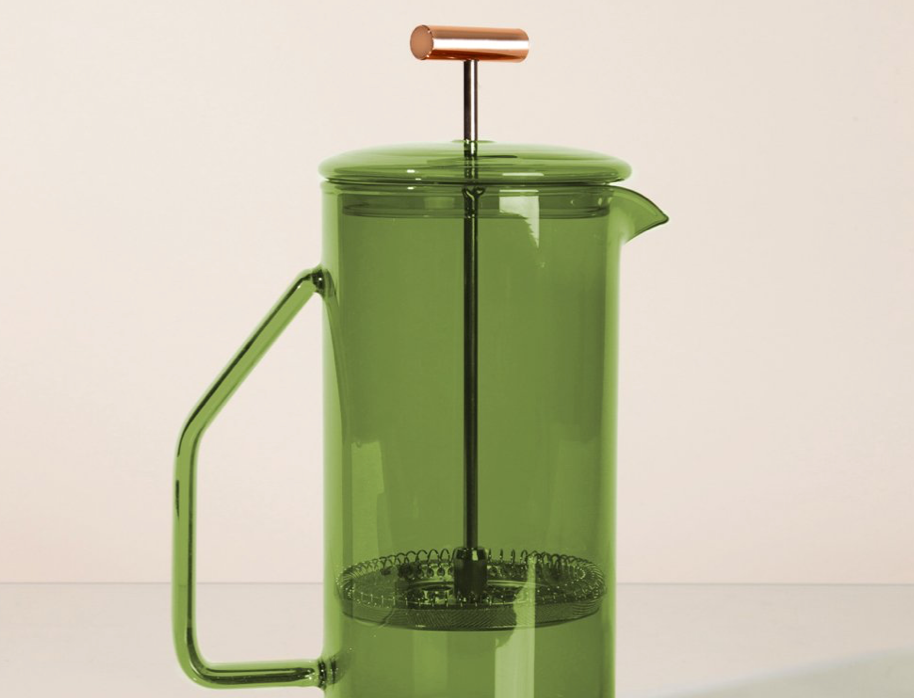 glass french press - verde