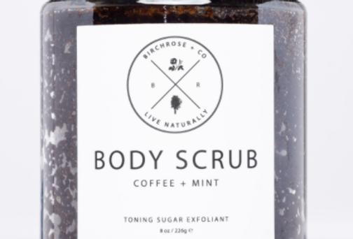 body scrub - coffee + mint