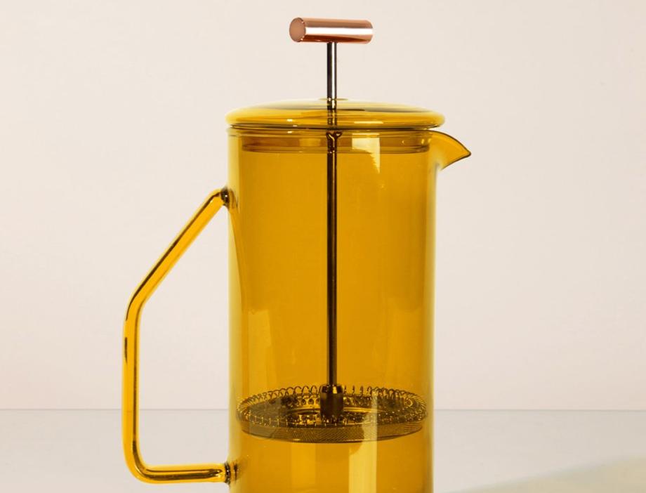 glass french press - honey