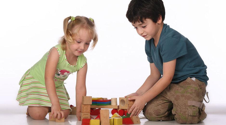 Kids Stacking Blocks
