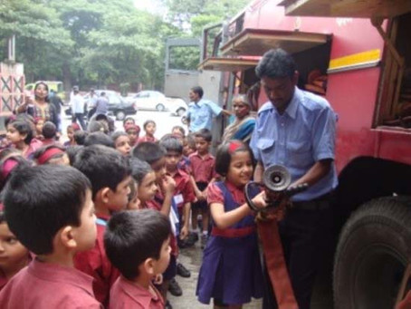 Visit to the Fire Station and Post office (Sr. KG)