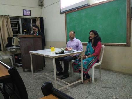 Guest Lecture on Management by Mr. Parulekar