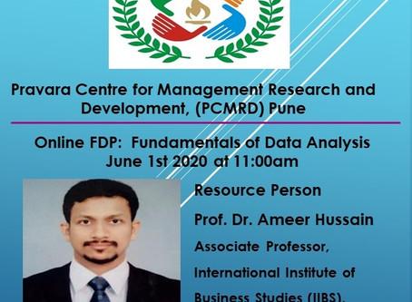 Online Faculty Development Programme on Fundamentals of Data Analysis