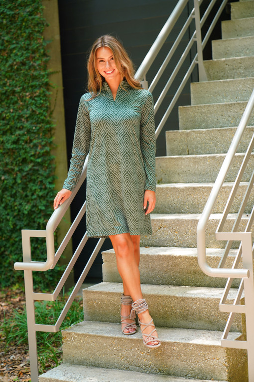 LS Cindy Dress in Forest Lynx
