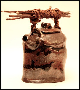 handbuilt teapot