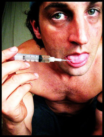 a heroin addict