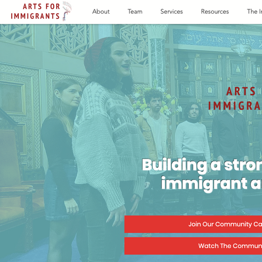 Arts for Immigrants Homepage