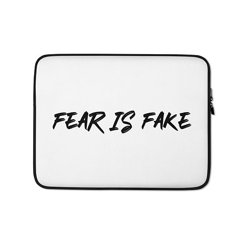 """Fear is Fake"" Laptop Sleeve"