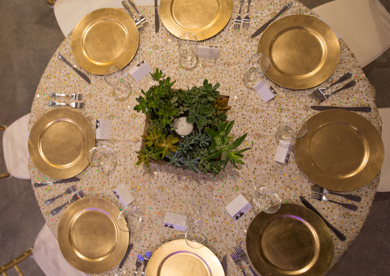 Gold Rustic Banquet Table