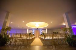 Wedding Ceremony Chandelier Hall