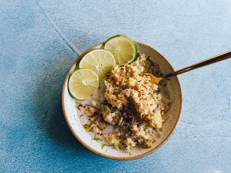 Vegan Coconut Lime Millet Breakfast Bowls