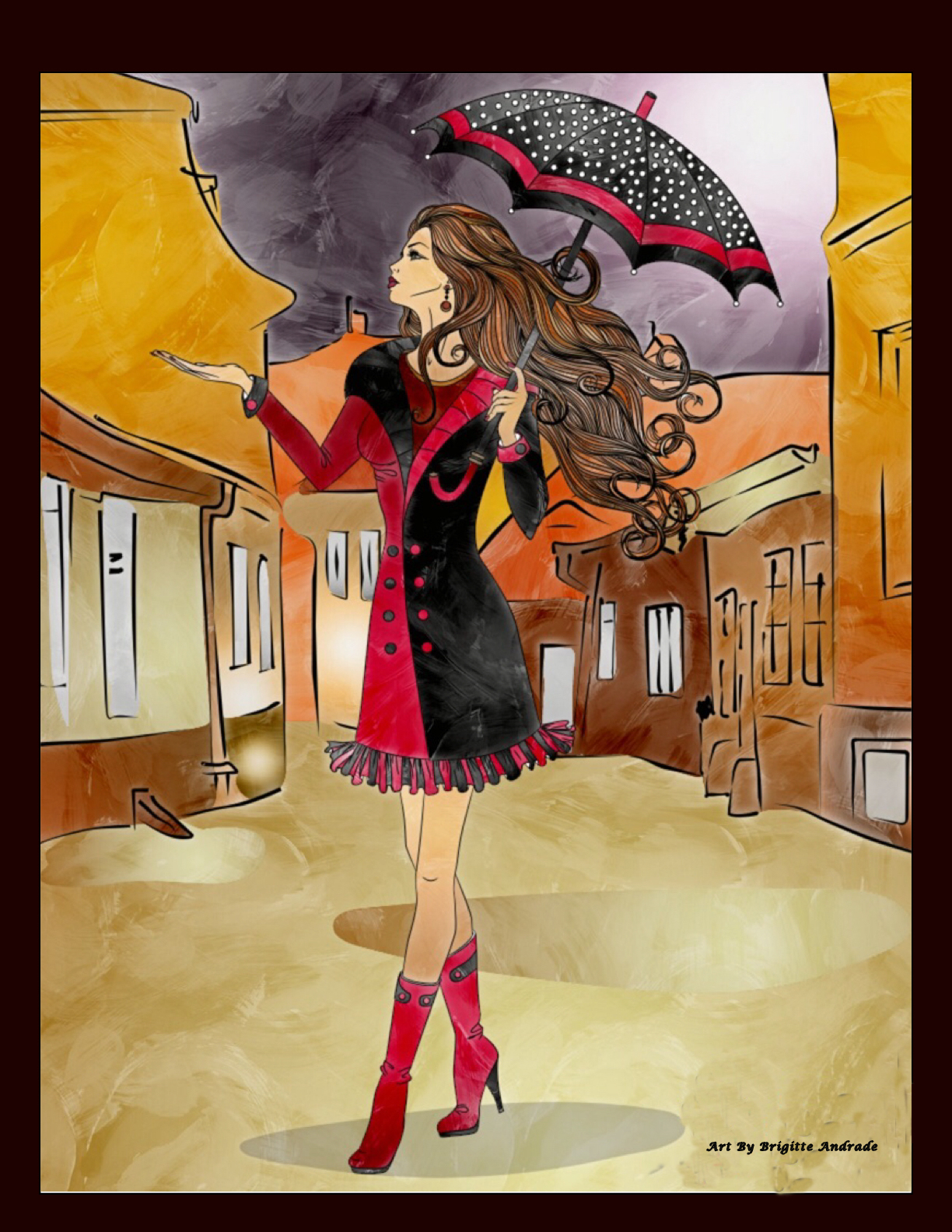 Bibi_Girl With Umbrella