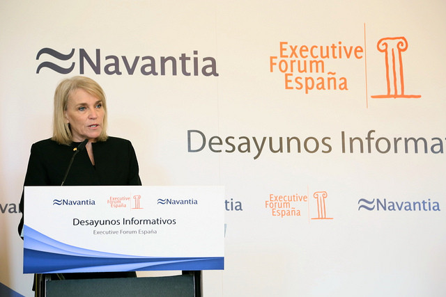 La Embajadora de Australia, Virginia Greville, en Executive Forum