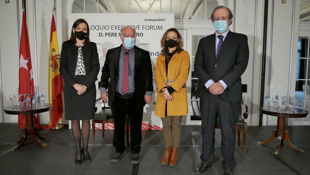 De izquierda a derecha: Anna Bonet, Pere Navarro, Berta Barrero y César Chiva
