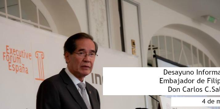 El Embajador de Filipinas en Executive Forum
