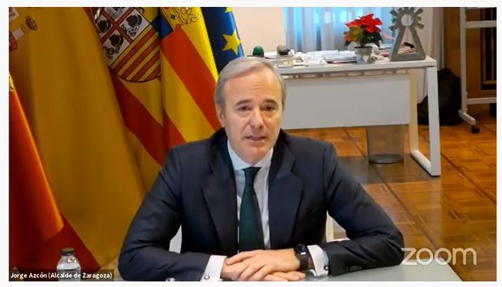 Azcón reitera la necesidad de que el Gobierno haga llegar ayudas antiCovid a los ayuntamientos