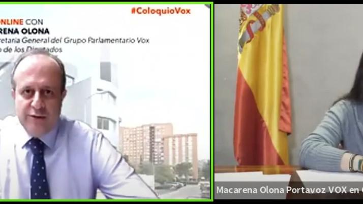 Olona denuncia la degradación de la democracia española en el contexto de la gestión de la pandemia