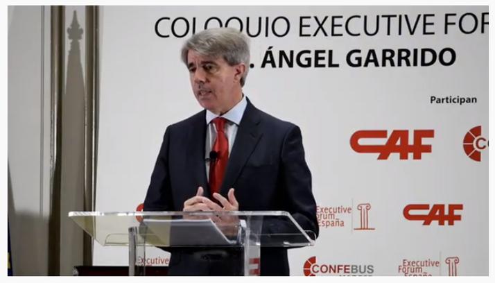 """Ángel Garrido critica la """"estigmatización injustificada"""" del transporte público"""