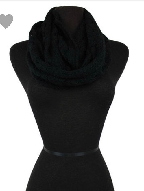 Solid Knit Infinity - Black