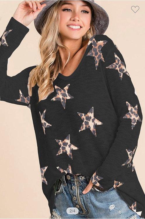 Leopard Star Lightweight Sweater