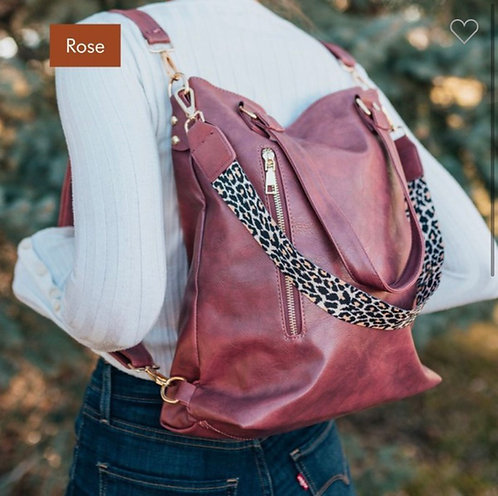 Convertible Handbag - Rose