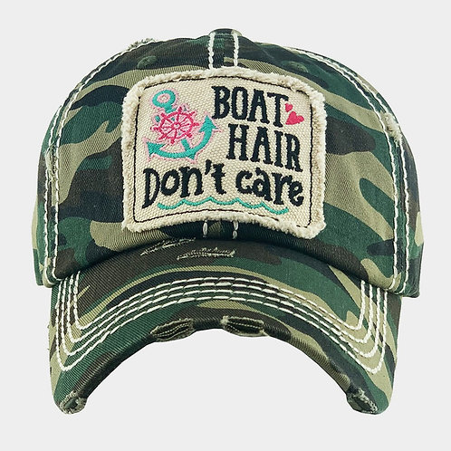Boat Hair Don't Care - Camo