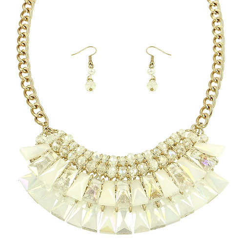 Chunky Statement Necklace - Cream