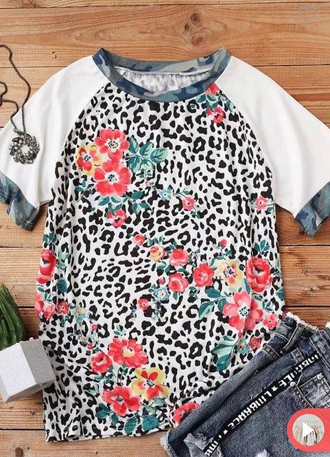 Camo Floral Short Sleeve