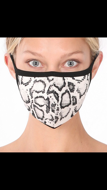 Snake Face Mask - Gray