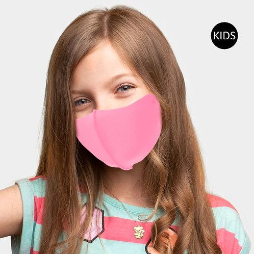 Kids Solid Adjustable Mask - Neon Pink