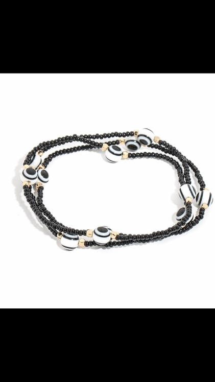 Evil Eye Bracelet Set - Black