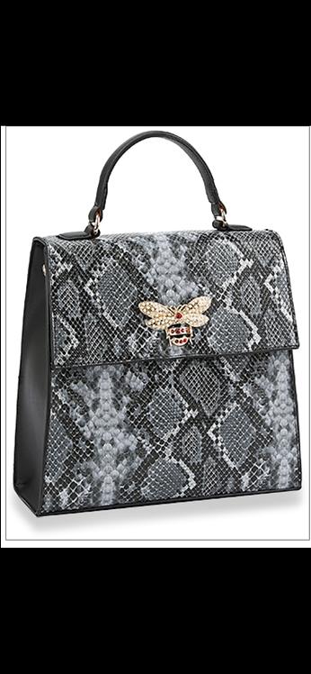 Snakeskin Bee Handbag
