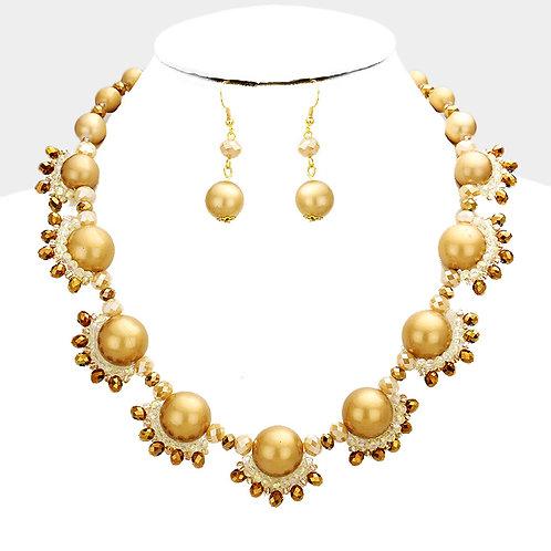 Pearl Bubble Necklace - Topaz