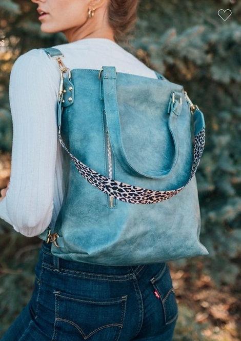 Convertible Handbag - Blue