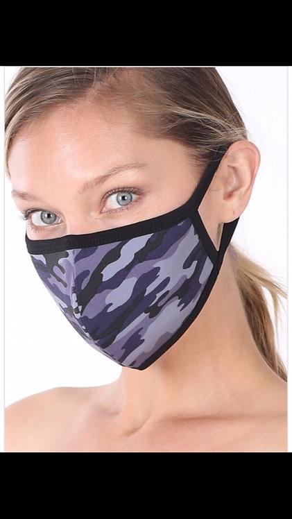 Camo Mask - Navy