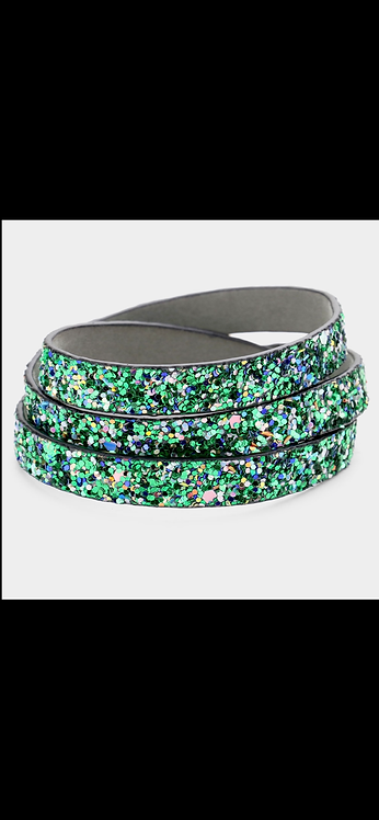 Bling Wrap Bracelet - Green