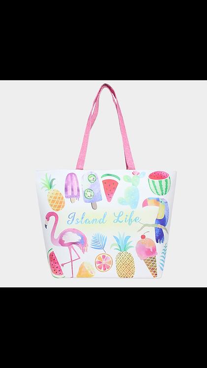 Island Life Beach Bag