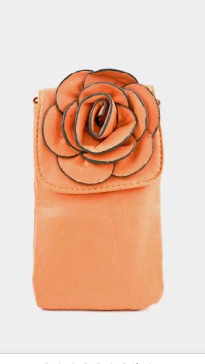 Petite Flower Cell Holder -Orange