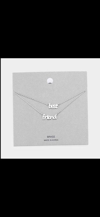 Best Friend Layered Necklace - Silver