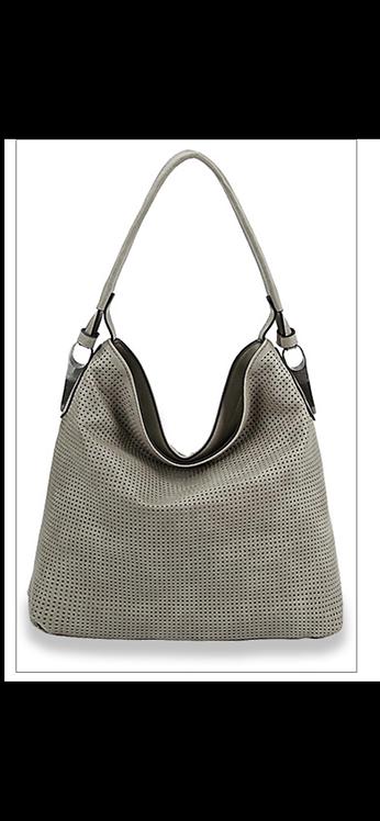 Textured Hobo Handbag